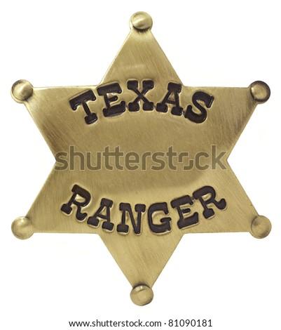 Texas Ranger Badge Isolated