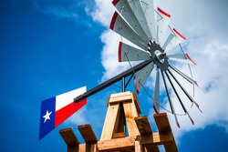 Texas Wind Mill Perfect Symbol of the Lone Star State