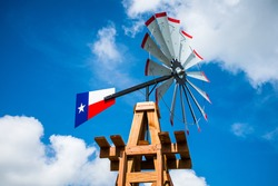 Texas Wind Mill Perfect Symbol of the Lone Star State on a Sunny Day
