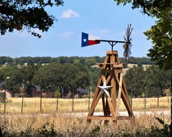 Texas Windmill Landscape in the Rolling Plains