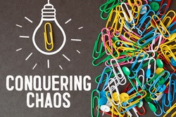 text conquering chaos, business concept