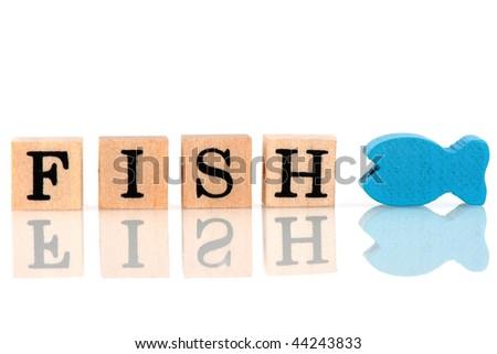 wood letter blocks. in wooden letter blocks