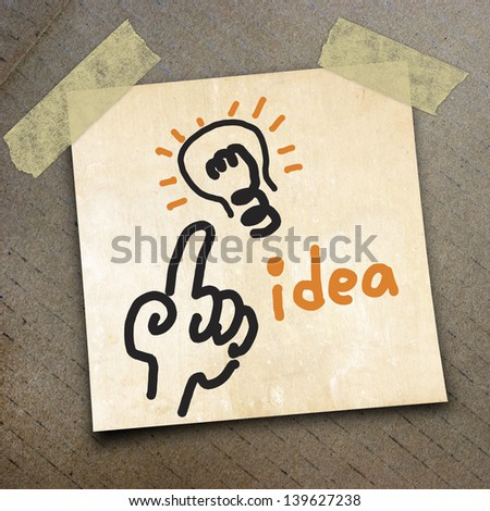 text idea draw on  paper on the packing paper box texture background
