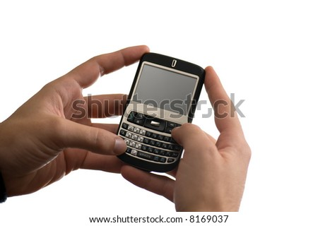 text messaging on a pda cell phone
