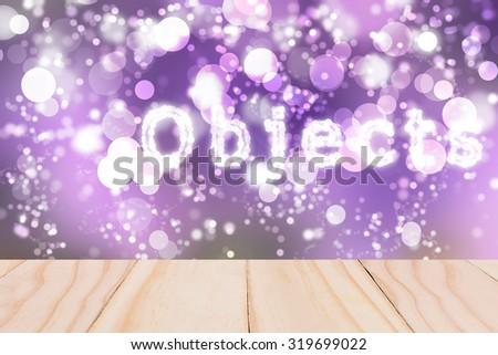 Text Objects Purple bokeh blurred beautiful from my idea.