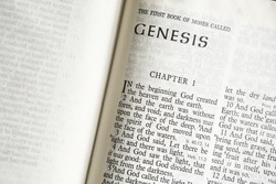 Text of Genesis, Chapter 1, the first book of the Holy Bible