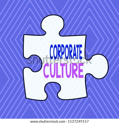Text sign showing Corporate Culture. Conceptual photo pervasive values and attitudes that characterize a company Infinite Geometric Concentric Rhombus Pattern against Lilac Background.