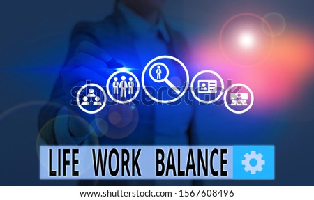 Text sign showing Life Work Balance. Conceptual photo stability demonstrating needs between his job and demonstratingal time.