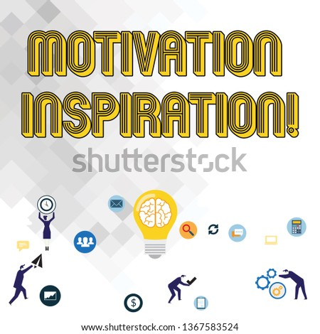 Text sign showing Motivation Inspiration. Conceptual photo ability to change the way we feel about life Business Digital Marketing Symbol, Element, Campaign and Concept Flat Icons.