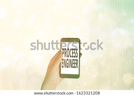 Text sign showing Process Engineer. Conceptual photo responsible for developing new industrial processes.