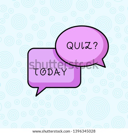 Text sign showing Quiz Question. Conceptual photo test of knowledge as competition between individuals or teams.