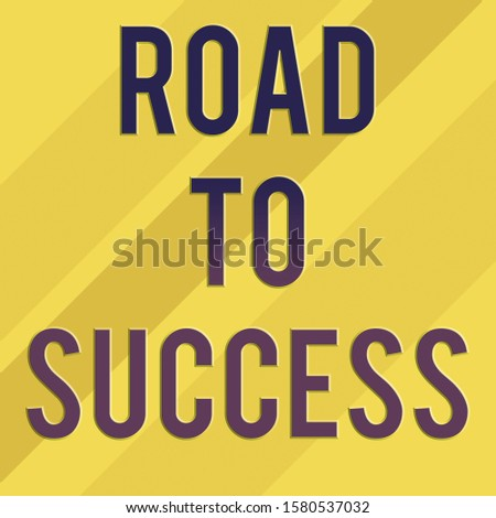 Text sign showing Road To Success. Conceptual photo studying really hard Improve yourself to reach dreams wishes Square rectangle paper sheet loaded with full creation of pattern theme.