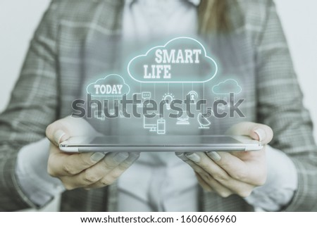 Text sign showing Smart Life. Conceptual photo approach conceptualized from a frame of prevention and lifestyles.