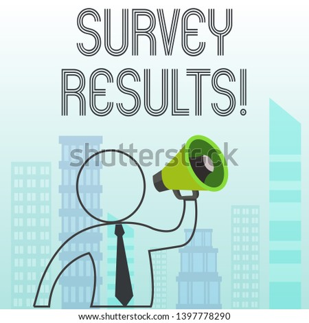Text sign showing Survey Results. Conceptual photo result of activity that collects or acquires statistical data.