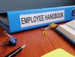 Text sign showing the printed words Employee Handbook