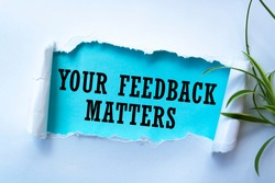 Text sign showing Your Feedback Matters