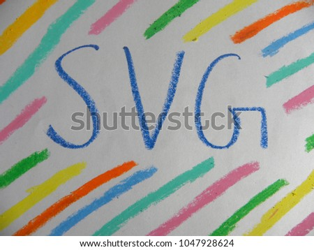 Text SVG hand written by colorful oil pastels #1047928624