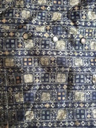Textile blue and yellow geometrical pattern