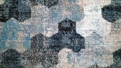 Textile blue texture. Ethnic texture design. Traditional carpet design. Carpet decoration. Abstract background.