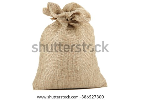 Textile - burlap sack isolated on white background with empty space Stock photo ©