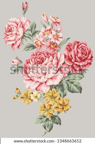 textile design flower