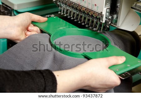 Textile embroidery machine in Textile Industry