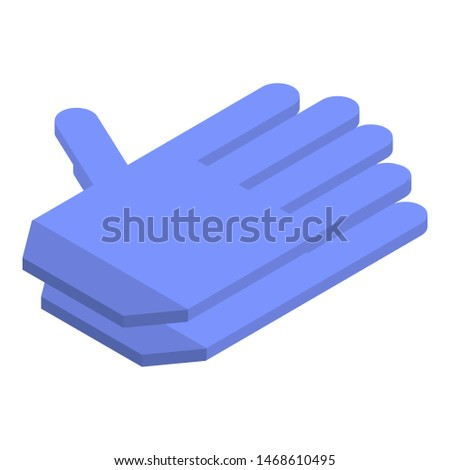 Textile gloves icon. Isometric of textile gloves icon for web design isolated on white background