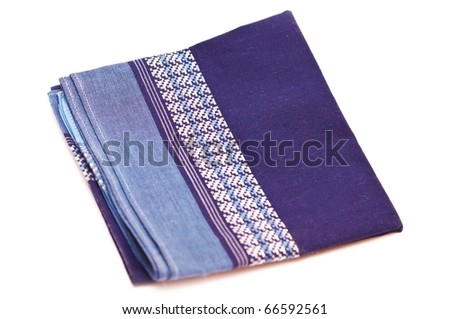 Textile handkerchief isolated on white background