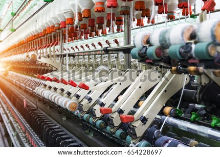 Textile industry  #654228697