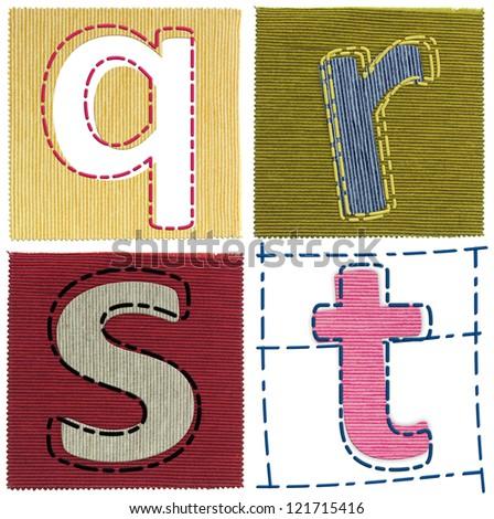 Textile letters collection
