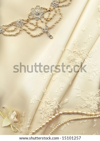 stock photo textile wedding background with plenty of copy space
