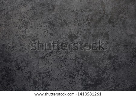 Textural gray background with the transition to black.View from above. Copy space. Foto stock ©