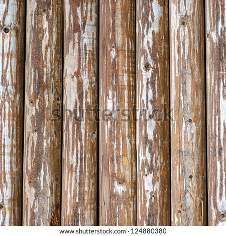 Texture - an old bare fence from wooden boards.