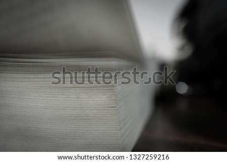 Texture and background of open book pages fanned. #1327259216