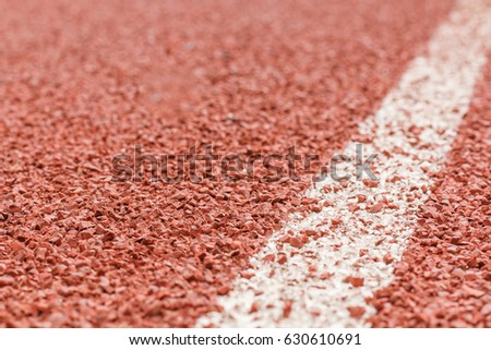 Texture and Background of Running race track.