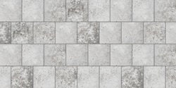 Texture and Seamless background of grey granite stone tile floor