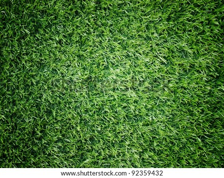 Texture and surface of green turf center light for sport background
