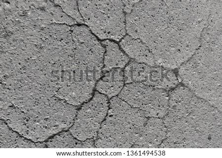 texture asphalt, crack on asphalt, background #1361494538