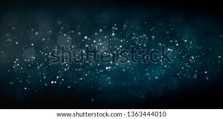 Texture background abstract black and white or silver Glitter and elegant for Christmas. Dust white. Sparkling magical dust particles. Magic concept. Abstract background with bokeh effect. #1363444010