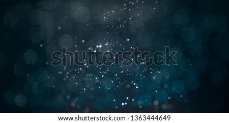 Texture background abstract black and white or silver Glitter and elegant for Christmas. Dust white. Sparkling magical dust particles. Magic concept. Abstract background with bokeh effect. #1363444649