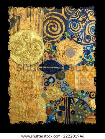 Texture, background and Colorful Image of an original Abstract Painting,oil on Canvas