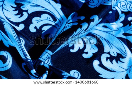 texture, background, black silk fabric with a monogram pattern Exquisite pattern of filigree fabric your design will delight you for a long time #1400681660