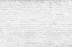 Texture background concept: white brick wall background in rural room