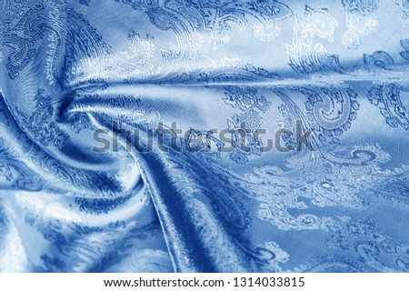 texture, background, dark blue, navy blue, sapphirine,  blushful fabric with a paisley pattern. based on traditional Asian elements #1314033815
