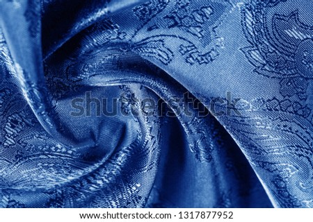 texture, background, dark blue, navy blue, sapphirine,  blushful fabric with a paisley pattern. based on traditional Asian elements #1317877952
