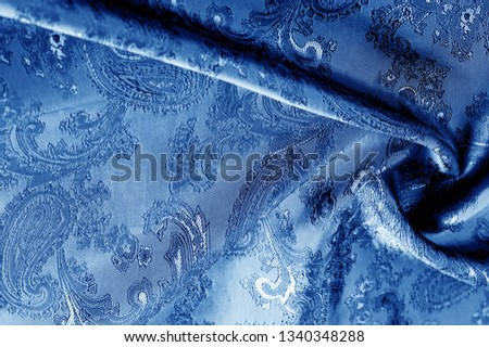texture, background, dark blue, navy blue, sapphirine,  blushful fabric with a paisley pattern. based on traditional Asian elements #1340348288