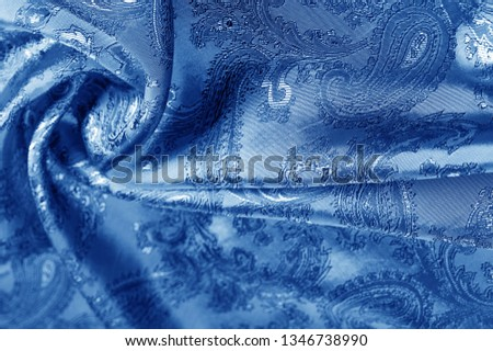 texture, background, dark blue, navy blue, sapphirine,  blushful fabric with a paisley pattern. based on traditional Asian elements #1346738990
