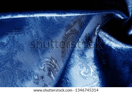 texture, background, dark blue, navy blue, sapphirine,  blushful fabric with a paisley pattern. based on traditional Asian elements #1346745314