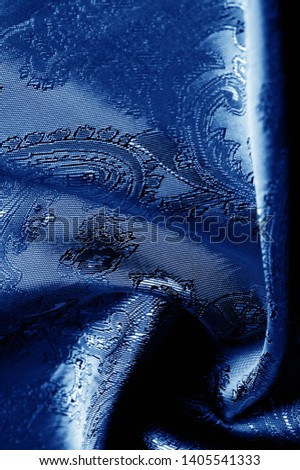 texture, background, dark blue, navy blue, sapphirine,  blushful fabric with a paisley pattern. based on traditional Asian elements #1405541333