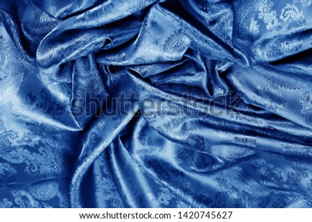 texture, background, dark blue, navy blue, sapphirine,  blushful fabric with a paisley pattern. based on traditional Asian elements #1420745627